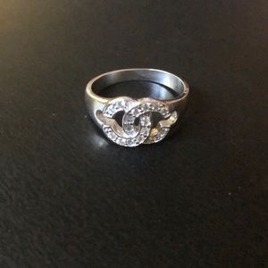 """unknown Jewelry - Sterling silver """"Chanel"""" ring"""